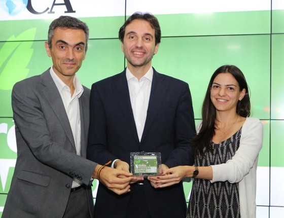 EDP Brasil recebe o prêmio na categoria Mudanças Climáticas - Serviços (Foto: Rogério Cassimiro)