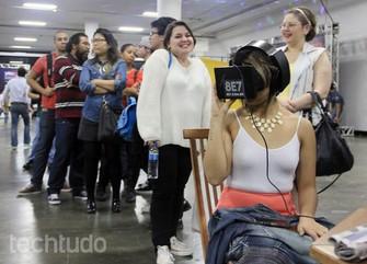 O Oculus Rift teve excelente aceitação brasileira no YouPix (Foto: Renato Bazan/TechTudo)