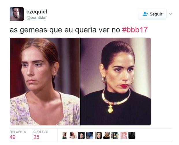 Estreia do BBB 17 rende memes (Foto: Reprodução/Twitter)