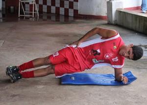 Leandro Jucá, volante Rio Branco-AC (Foto: Duaine Rodrigues)