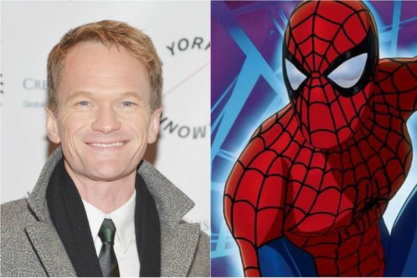 Quem diria que Neil Patrick Harris já foi o Homem-Aranha! Pois é. O ator emprestou sua voz ao super-herói na versão 'Homem-Aranha - A Nova Série Animada', de 2003 (Foto: Getty Images e Divulgação)