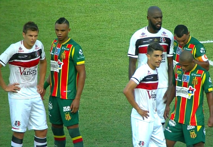 Sampaio Corrêa x Santa Cruz Série B (Foto: Reprodução)