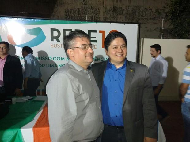 Rede oficializa Roberto Oshiro como candidato a prefeito da capital de MS (Foto: Fabiano Arruda/TV Morena)