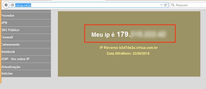 Obtenha seu IP externo (Foto: Reprodução/Paulo Alves)