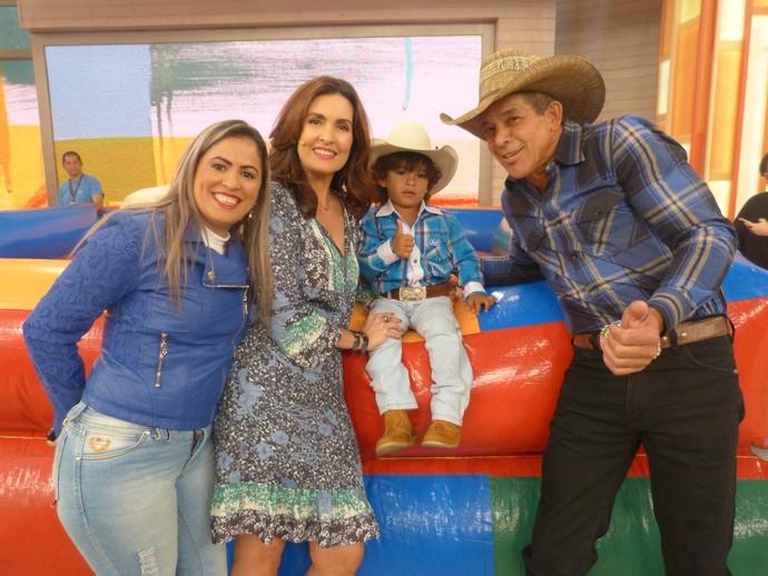 Convidados do programa com a Fátima  (Foto: Carolina Morgado/Gshow)