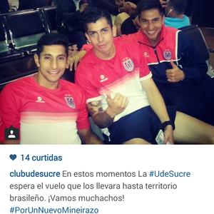 Universitario de Sucre espera um novo Mineirazo (Foto: Reprodução/Instagram)
