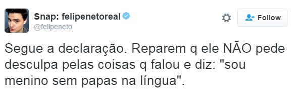 Felipe Neto (Foto: Reprodução/ Twitter)