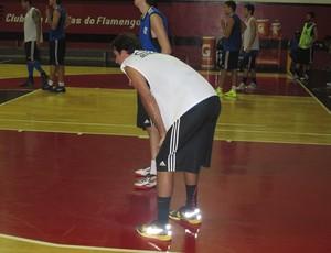 Marcelinho no treino na Gávea (Foto: Marcello Pires)