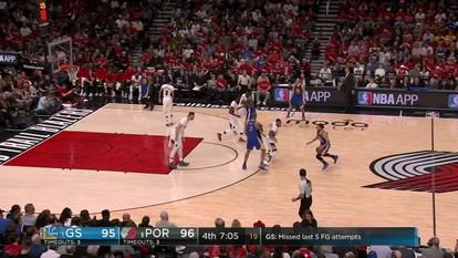 Melhores momentos de Golden State Warriors 119 x 113 Portland Trail Blazers pela NBA
