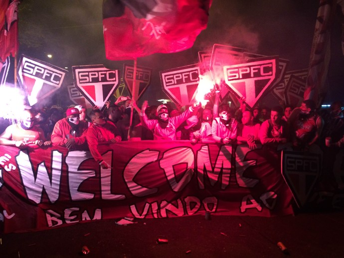 Torcida São Paulo x Atlético-MG (Foto: Alexandre Lozetti)