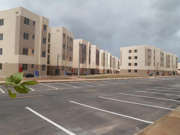 Apartamentos com 44 m² posuem sala, cozinha, banheiro e dois quartos (Foto: Prefeitura de Fortaleza/Divulgação)
