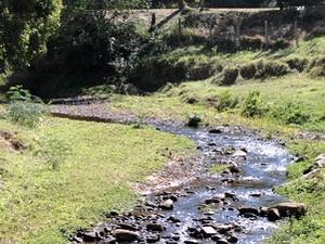 Ribeirão Pinheiro, que abastece São Pedro (Foto: Daniella Oliveira/Acervo pessoal)