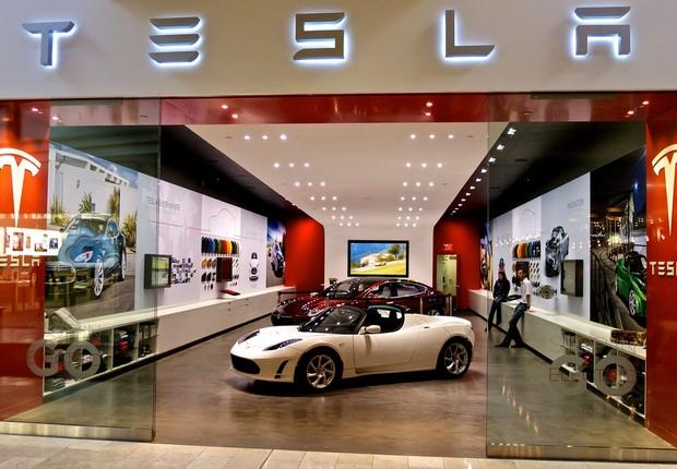 Revendedora de carros Tesla nos EUA (Foto: Nicolas Fleury/Flickr)