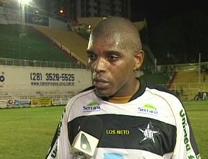 Fernando Alves, zagueiro do Estrela do Norte (Foto: Reprodução/TV Gazeta Sul)