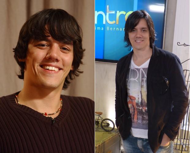 Dan Torres no Fama (2005) e no bastidor do Encontro (2014) (Foto: Divulgação/TV Globo e Encontro com Fátima Bernardes/ TV Globo)