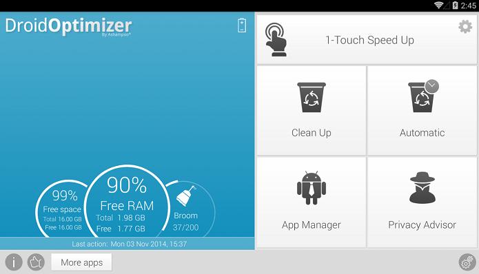 Droid Optimizer garante ótima performance no celular (Foto: Divulgação)