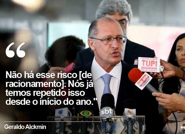 Em 10 de novembro, Alckmin afirma que o abastecimento estava garantido para 2015. (Foto: Arquivo/Joel Rodrigues/Frame/Estadão Conteúdo)
