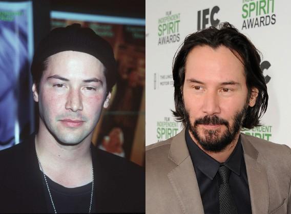 O ator, em 1996, com 32 anos e, mais recentemente, com 50. (Foto: Getty Images)