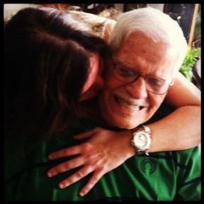 Cristiana Oliveira e o pai, Oscar (Foto: Instagram/ Reprodução)