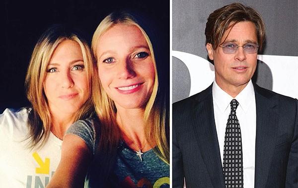 Jennifer Aniston, Gwyneth Paltrow e Brad Pitt (Foto: Reprodução / Getty Images)