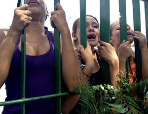Meninas perdem prova para ver seleção brasileira (Foto: Thiago Correia)