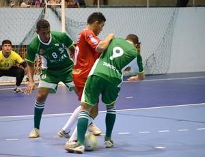 ADDP x Tamoyo no primeiro jogo da final do Municipal de Futsal (Foto: Léo Borges)