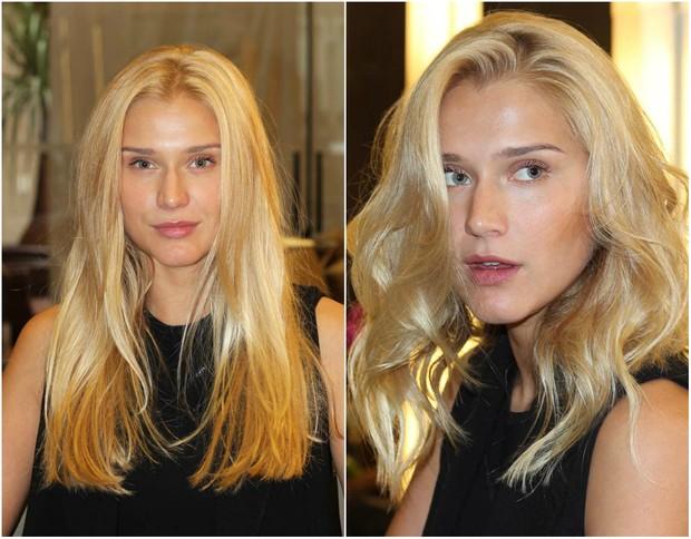 Celina Locks antes e depois de mudar o visual (Foto: Divulgação)