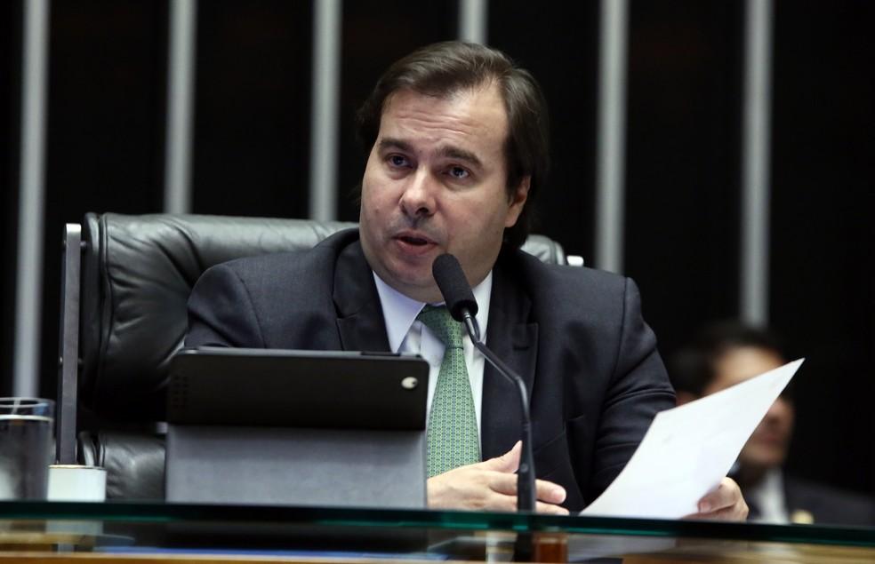 O presidente da Câmara, Rodrigo Maia (DEM-RJ), durante sessão em 2016 (Foto: Gilmar Felix/Câmara dos Deputados)