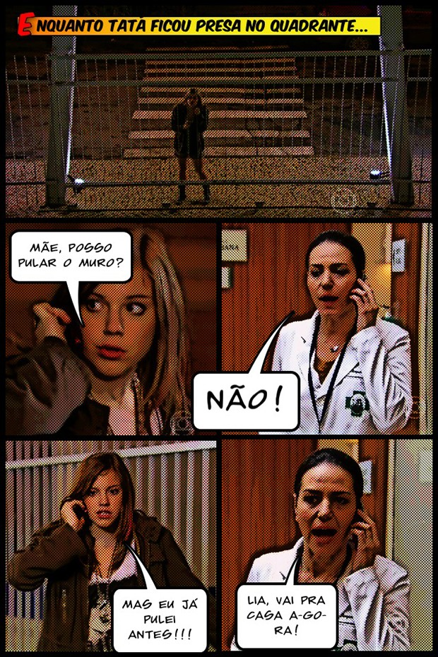 Pode pular não, Lia!!! (Foto: Malhação / TV Globo)