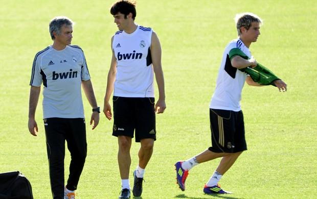 Mourinho Kaká Coentrão Real Madrid (Foto: AFP)