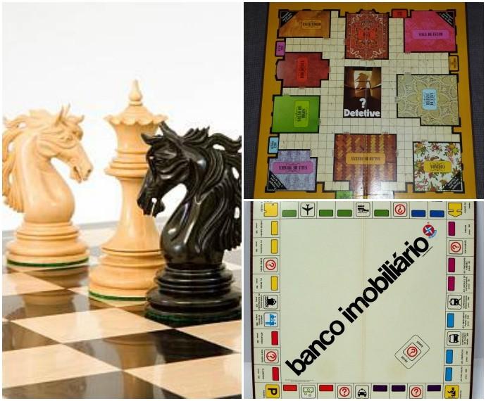 Jogos de Tabuleiro Mistura com Rodaika Inspiração xadrez banco imobiliario detetive (Foto: Montagem sobre fotos de Divulgação)