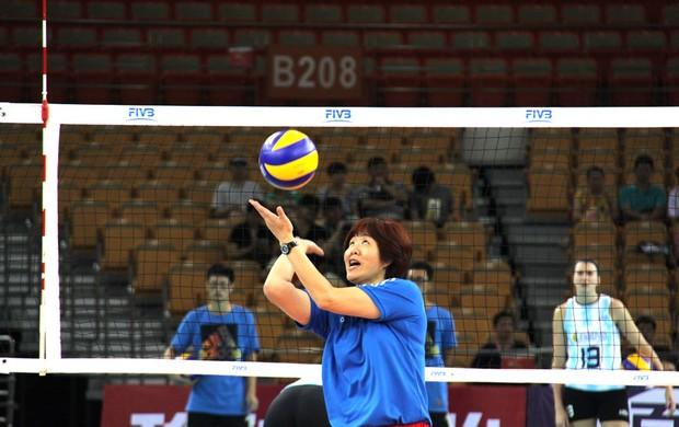 Lang Ping treinadora da China Grand Prix de vôlei (Foto: Divulgação / Fivb)