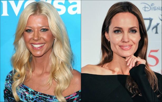 Duas atrizes nascidas em 1975: Tara Reid e Angelina Jolie. (Foto: Getty Images)