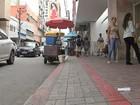 Calçadas do Centro de Fortaleza terão demarcações para ambulantes