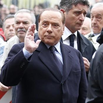 Silvio berlusconi funeral Cesare Maldini (Foto: AP)