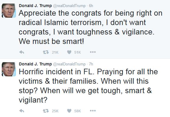 Donald Trump comenta ataque em boate gay de Orlando (Foto: Reprodução/Twitter)