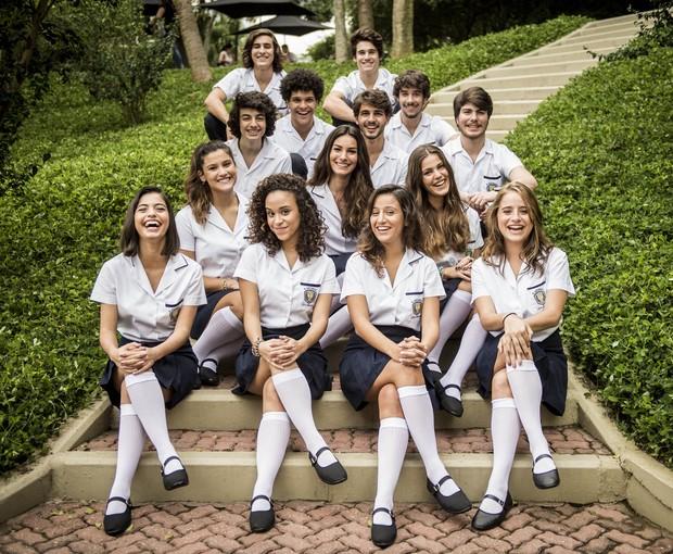 Alunos do Colégio Leal Brazil na nova temporada de Malhação (Foto: João Cotta/Globo)