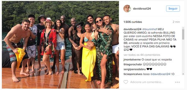 David Brazil manda recado para Bruninho (Foto: Reprodução/Instagram)