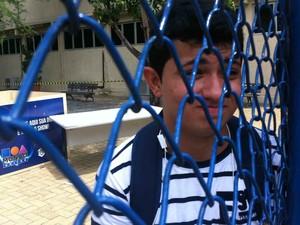 Emanuel Nogueira, 21 anos, perdeu a segunda prova do Enem porque esqueceu a identidade, em Fortaleza (Foto: Gabriela Alves/G1)