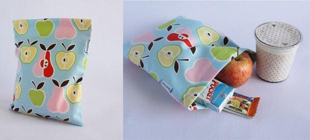 Sacolinha  (R$ X), da Laurina (http://www.laurina.iluria.com/) | Discreta, é ideal para levar frutas e lanches pequenos, como barrinhas de cereais (Foto: Divulgação)