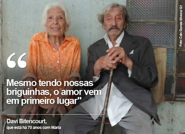 Maria e Davi: 70 anos de união posam para foto em Tatuí (Foto: Caio Gomes Silveira/ G1)