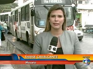 Thaíse participa ao vivo com outras capitais do país (Foto: Reprodução/ Rede Globo)