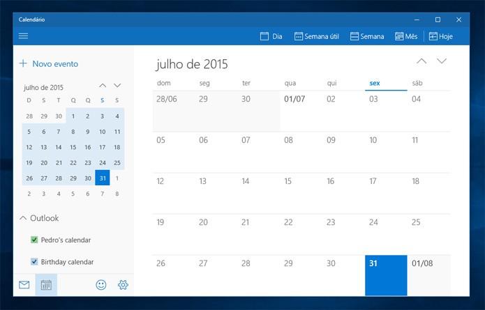 O Calendário é leve e tem excelente design, pena não sincronizar com Facebook (Reprodução)