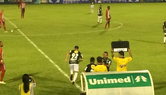 Atacante Luiz Eduardo reestreia pela Caldense (Foto: Lúcia Ribeiro)