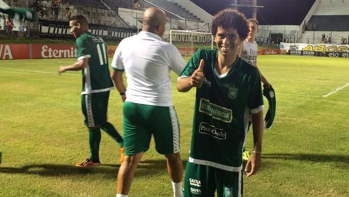 Fábio Gama meia do Gama (Foto: Augusto Gomes/GloboEsporte.com)