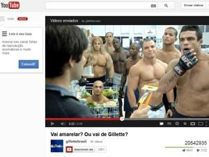 """'""""Vai amarelar? Ou vai de Gillette?', da agência África, lidera ranking (Foto: Reprodução/YouTube)"""