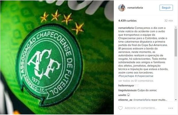 Famosos lamentam tragedia com time da Chapecoense (Foto: Instagram / Reprodução)