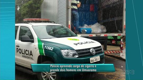 Polícia Ambiental apreende caminhão com 600 caixas de cigarro no Paraná