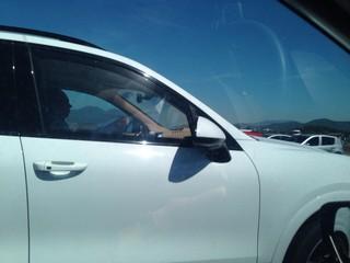 Juiz no carro de Thor Batista (Foto: Arquivo Pessoal)
