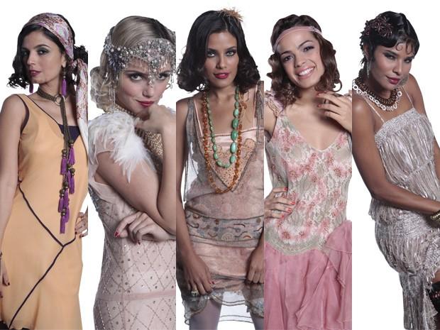 Cada menina do Bataclã tem deu estilo de maquiagem (Foto: Gabriela / TV Globo)